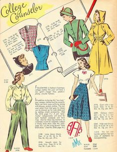 Vintage Closet, Vintage Wardrobe, Vintage Fall, Mode Vintage, Vintage Style Dresses, Vintage Outfits, Vintage Pants, 1940s Dresses, Vintage Dress