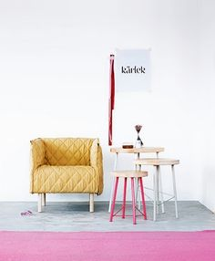 Love the chair and colors pink and mustard