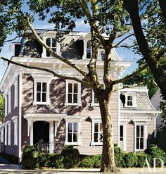 A converted 1865 Second Empire–style townhouse in Sag Harbor, New York.