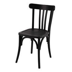 Chaise de bistrot en bois noire Troquet | Maisons du Monde