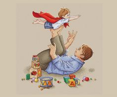 Father cross stitch pattern Dad with son cross stitch pattern father and son cross stitch gift for dad pattern superman cross stitch pattern - Vater Father's Day Drawings, Cross Stitch Embroidery, Cross Stitch Patterns, Family Drawing, Mother Art, Super Dad, Father And Son, Cute Illustration, Print Pictures