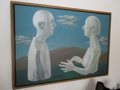 "Found on EstateSales.NET: ""Conversation Between Two Plaster Casts"", original Bernarda Bryson painting.  Wife of Ben Shahn.  Featured on the cover of the 1984 Physician & Patient magazine.  30 1/4"" x 44 1/4"""