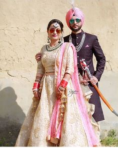 Punjabi Wedding Couple, Indian Wedding Couple Photography, Indian Wedding Bride, Punjabi Couple, Indian Bridal, Wedding Couples, Photography Couples, Married Couples, Bridal Lehngas