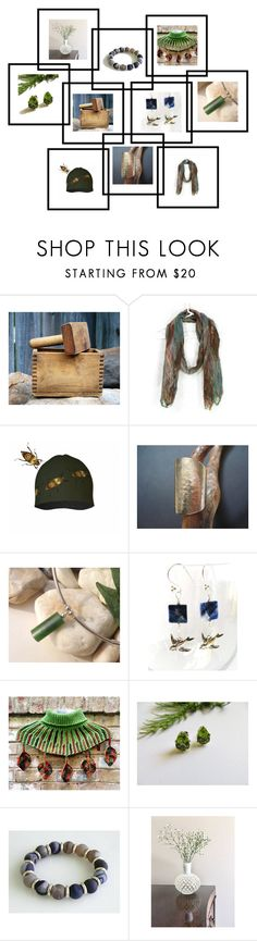 """""""Shop Etsy"""" by fibernique ❤ liked on Polyvore featuring Natural Blue and vintage"""