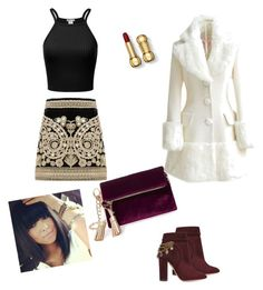"""Mistik"" by aysegulkadayif-1 on Polyvore featuring For Love & Lemons, Steve Madden, Aquazzura and WithChic"