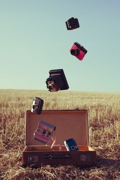 Cameras. capturing the world around me.
