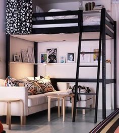 Girl Bedroom Designs, Room Ideas Bedroom, Small Room Bedroom, Home Decor Bedroom, Dorm Room, Loft Beds For Small Rooms, Cool Loft Beds, Double Loft Beds, Queen Loft Beds