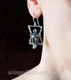 IN A FRAME silver earrings | Etsy Silver Earrings, Drop Earrings, Rings Online, Precious Metals, Jewelry Design, Sterling Silver, Pendant, Frame, Lion