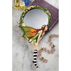 """Lochloy House"" Fairy Looking Glass Hand Mirror"