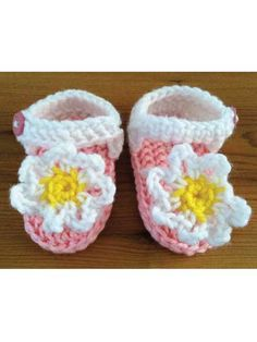 Crocheted Flower Sandals Crochet Pattern Download from e-PatternsCentral.com -- ake a pair of sweet summer sandals for a special baby!