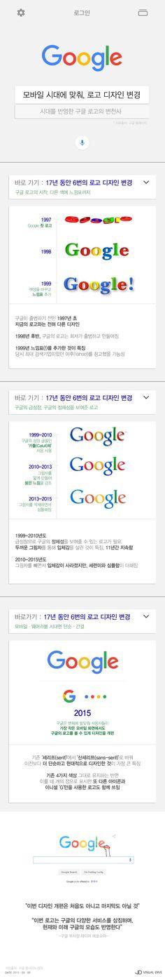구글, 로고 바꾼 이유…17년간 변천사 [인포그래픽] #Google / #Infographic ⓒ 비주얼다이브 무단 복사·전재·재배포 금지