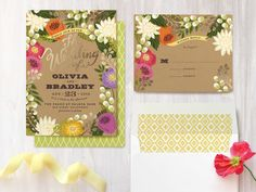 Floral Canopy at minted.com - Wedding Invitations (both regular & foil pressed), Reception Cards, Directions Cards, RSVP Postcards, RSVP Cards, Thank You Cards, Table Numbers (both regular & foil pressed), Menu, Place Cards, Wedding Programs, Save the Date Cards, and Self-Launch Fabric