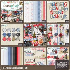 Fully Anchored Collection :: Gotta Grab It :: Gotta Pixel Digital Scrapbook Store by Aimee Harrison