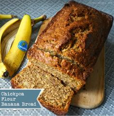 Chickpea Flour Banana Bread {Gluten-Free, Grain-Free} use egg replacer in lieu of eggs