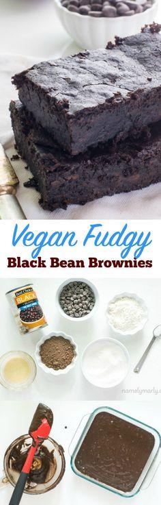 Get your fiber, stay healthy, keep it simple, and make it tasty - all in one brownie! Vegan Fudgy Black Bean Brownies!
