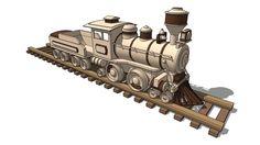 Wooden Train - 3D Warehouse