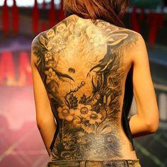 Back Tattoos for Women - Ideas and Designs for Girls #tattoosonbackskull