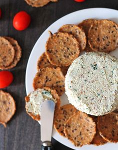 This garlic herb vegan almond cheese spread is bursting with flavour and can be used in so many ways. It's great on crackers, sandwiches, as a veggie dip, and more!