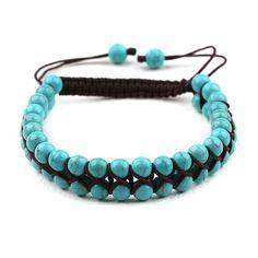 """Bracelet """"shamballa"""" turquoise"""
