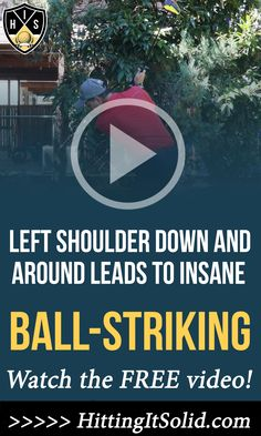 Hitting It Solid shares with you how to move your left shoulder down and around golf ensuring you become a pure ball-striker. Practice this key move and watch your golf scores drop. CLICK THE IMAGE to watch the video. #leftshoulderdownandaroundgolf #leftshoulderdowndownswing #leftshoulderdowningolfswing #leftshoulderdowntostartbackswing Golf Slice, Golf Chipping, Golf Instruction, Golf Putting, Golf Exercises, Golf Training, Golf Lessons, Golf Tips, How To Become