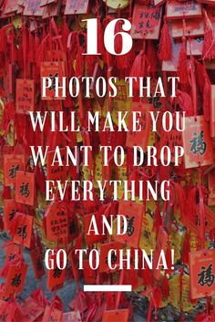 I love China. The people, food, history, culture ... So I made a collection of 16 photos that will make you want to drop everything and go to China