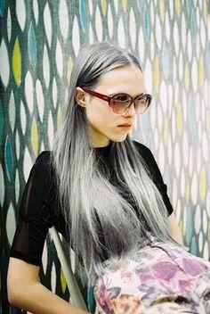 how do you make the darkest pravana hair silver color - Google Search