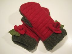 Harper Woods Wool Mittens  med/lg  MMC458 by MichMittensbyLauri, $23.00