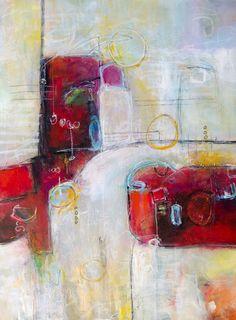 "Crimson Avalanche by Jonathan Lanis | $250 | 30""w x 40""h | Original Art | http://www.vangoart.co/jonathan-lanis/crimson-avalanche @VangoArt"