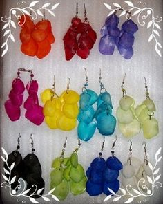 Hand Dyed Paiche Fish Scales Earring Selection