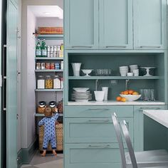 A Happy, Modern Aqua Blue Kitchen — Southern Living