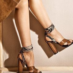 shoes - Spring Sandals Put some chic in your step Dream Shoes, Crazy Shoes, Ankle Heels, High Heels, Women's Heels, Cute Shoes, Me Too Shoes, Shoe Boots, Shoes Sandals