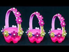 DIY Best out of waste plastic bottle craft Waste Bottle Craft, Reuse Plastic Bottles, Plastic Bottle Crafts, Diy Bottle, Plastic Waste, Paper Flower Vase, Basket Crafts, Easy Paper Crafts, Recycled Crafts