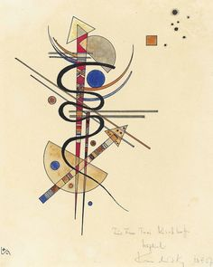 Wassily Kandinsky (Russian, Aquarell für Frau Toni Kirchhoff, Watercolour and pen and India ink on paper, 9 x 6 in. Tatouage Delta, Abstract Expressionism, Abstract Art, Abstract Landscape, Kandinsky Art, Wassily Kandinsky Paintings, Oeuvre D'art, Online Art, Art History