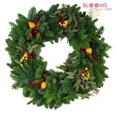 Holiday  Aussie Wreath #budgetgreens #holidaywreath #homedecor #seasonal #christmas #wreath