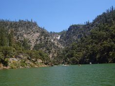 Lake Oroville, California...Feather Falls in the distant background