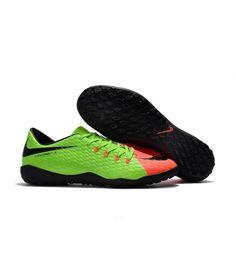 131bbc509be Nike Hypervenom Phelon III TF NA UMĚLÝ POVRCH zelená oranžový černá muži  Leather kopačky
