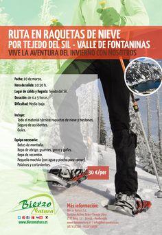 Vive la aventura del invierno con nosotros. http://www.bierzonatura.es