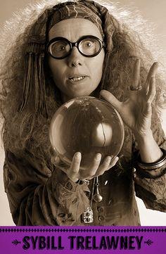 Sybill Trelawney, Divination professor. #HarryPotter #Hogwarts #Trelawney