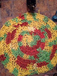 Rug made from baling twine