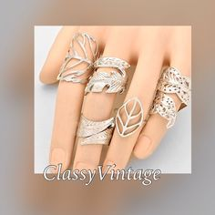 Silver tone leaf midi ring set. 5 ring set and arrives this week. Will be$15.00 Boutique Jewelry Rings