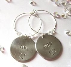 Mr & Mrs Wine Glass Charms £3.00