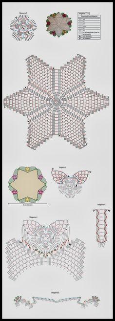 grafico-tapete-estrela for the home bathr Crochet Diy, Crochet Home, Love Crochet, Crochet Motif, Crochet Crafts, Crochet Doilies, Crochet Flowers, Crochet Projects, Doilies Crochet