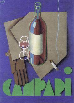 Campari - Carlo Duse - 1930 Vintage Advertising Posters, Old Advertisements, Print Advertising, Vintage Ads, Vintage Posters, Guinness Advert, Campari And Soda, Interesting Drawings, Art Deco Posters