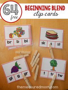 Beginning blends for PreK or Kindergarten