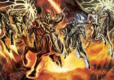 "End of Days:  ""The Four Horsemen,"" by timswit, at deviantART."