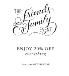 Last day for 20% off