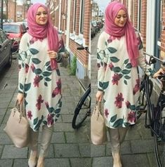 really like this hijab outfit Hijab Casual, Hijab Outfit, Hijab Fashion 2016, Modest Fashion, Girl Fashion, Fashion Outfits, Fashion Muslimah, Abaya Fashion, Muslim Girls