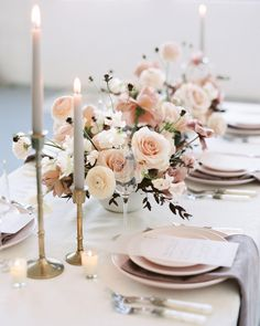 Wedding Reception Tables, Wedding Table Settings, Wedding Centerpieces, Luxury Wedding, Elegant Wedding, Bridal Flowers, Romantic Weddings, Floral Arrangements, Candles