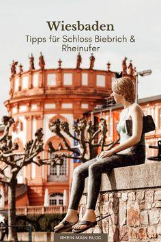 """""""Ein Ort der Vielfalt"""" – mit diesem Slogan begrüßt Wiesbaden Biebrich seine Besucher. Hier treffen nicht nur Barock und Industrie aufeinander. Auch reihen sich eindrucksvolle Stadtvillen dicht an Wohnviertel und Restaurants. In diesem Blogbeitrag möchte ich dir einen vielseitigen und lebendigen Stadtteil zeigen und nehme dich dafür mit auf einen kleinen Streifzug durch das Viertel. Nassau, Maine, Rhein Main Gebiet, Frankfurt, Restaurants, Posts, Statue, Blog, Inspiration"""
