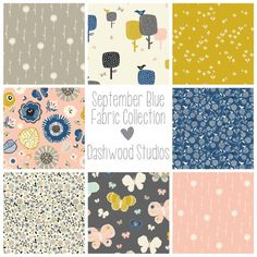 Dashwood Studio September Blue Fabric Bundle by TheHomemakeryUK, Studios, Bee Happy, Needle And Thread, Blue Fabric, Fabric Patterns, My Favorite Things, September, Fabrics, Quilts